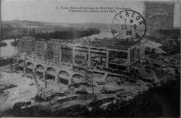 Usine Hydro électrique De Mauzac, Ensemble Des Travaux Aout 1920 - Francia