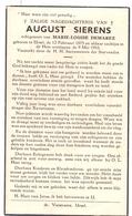 Devotie - Doodsprentje Overlijden - August Sierens - Ursel 1873 - 1953 - Obituary Notices