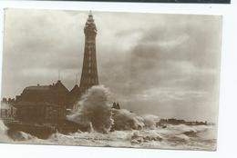 Blackpool Lancashire Postcard Posted Rp Published Dennis Storm At Blackpool - Blackpool