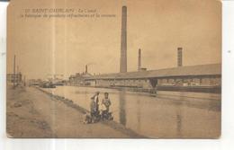 10. Saint Ghislain, Le Canal, La Fabrique De Produits Refractaires Et La Verrerie - Saint-Ghislain