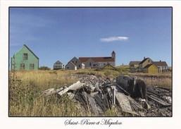 Saint-Pierre Et Miquelon - Saint-Pierre - L'Ile Aux Marins - Maisons Et Eglise - Saint-Pierre-et-Miquelon