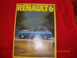 """REVUE-PUB GRAND FORMAT AVEC PHOTOS ET DESCRIPTs DU VEHICULE """"  RENAULT 6  """" ETAT NEUF - Auto/Moto"""