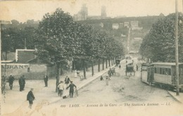 Laon 1922; Avenue De La Gare (Tramway) - écrite. (109 - LL.) - Laon
