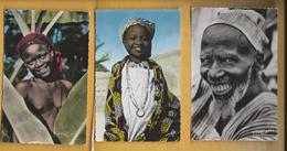 3 C.P.M.Portraits D'Afrique ; - Unclassified
