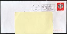 FLAMME, MONACO (2-3-2018) Centre De La Jeunesse, Princesse Stephanie, Sur Lettre, Postmark On Cover - Machine Stamps (ATM)