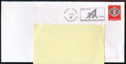 FLAMME, MONACO (7-12-2016) 10 Ans Fondation Prince Albert II De Monaco, Sur Lettre,  Postmark On Cover - Machine Stamps (ATM)