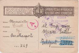 1944 R.S.I. CARTOLINA FRANCHIGIA Giuramento Bruno Su Bianco Viaggiata Fori Spillo - 4. 1944-45 Repubblica Sociale