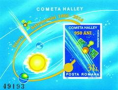 ROMANIA, 2016, Halley Comet / 950 Years / S/S Overprint - Astronomy