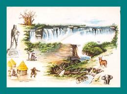 Zimbabwe ( éléphant, Pont, Statue Livingstone ) - Zimbabwe