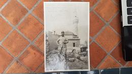 Top Photo SALONIQUE - Restes D'une Eglise Bysantine Après L'Incendie De Aout 1917 - Militaria, WW1, POILU 2e Régiment - Oorlog 1914-18