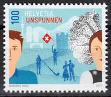 SWITZERLAND 2017, REGION UNSPUNNEN, COMPLETE, MNH SET, GOOD QUALITY, *** - Switzerland