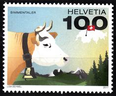 SWITZERLAND 2017, FAUNA, SWISS COWw, COMPLETE, MNH SET, GOOD QUALITY, *** - Switzerland