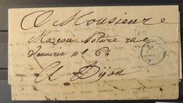 France Lettre Avec Cachet P- Payé Paris Du 14 Juillet 1833 à Destination De Dijon - 1801-1848: Précurseurs XIX