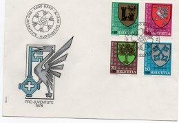 SVIZZERA 1978 - PRO JUVENTUTE - AARBURG - GRUYERES - CASTASEGNA - WANGEN - FDC