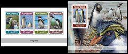 MOZAMBIQUE 2018 - Penguins, M/S + S/S. Official Issue - Pinguïns & Vetganzen