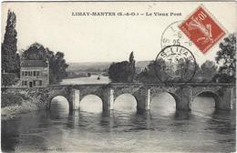 Limay Mantes Le Vieux Pont  Circulee En 1919 - Limay