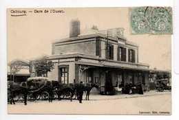 - CPA CABOURG (14) - Gare De L'Ouest 1908 (avec Attelages) - Edition LECOURT - - Cabourg