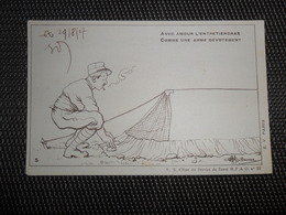 Illustrateur   Guillaume   Soldat  Le Moustique Voila L' Ennemi - Cachet Trésor Et Postes 1917 - Guillaume
