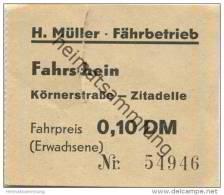 Deutschland - Berlin - Fahrschein Ticket - Körnerstrasse - Zitadelle - H. Müller Fährbetrieb - Fahrpreis 0,10 DM - Europa