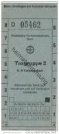 Schweiz - Städtische Verkehrsbetriebe Bern - Fahrschein Taxgruppe 2 4-5 Teilstrecken - Bahn