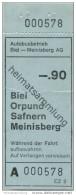 Schweiz - Biel - Autobusbetrieb Biel-Meinisberg AG - Fahrschein Fr. -.90 - Busse
