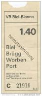 Schweiz - Biel - VB Biel-Bienne - Fahrschein Fr. 1.40 - Busse