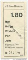 Schweiz - Biel - VB Biel-Bienne - Fahrschein Fr. 1.80 - Busse
