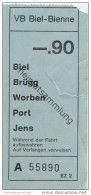Schweiz - Biel - VB Biel-Bienne - Fahrschein Fr. -.90 - Busse