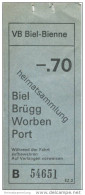 Schweiz - Biel - VB Biel-Bienne - Fahrschein Fr. -.70 - Busse