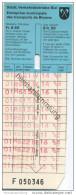 Schweiz - Biel - Biel - Städtische Verkehrsbetriebe Biel - Fahrschein Fr. 6.50 Für 12 Einfache Fahrten - Busse