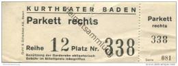 Schweiz - Aargau - Kurtheater Baden - Eintrittskarte - Eintrittskarten