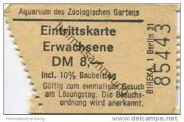 Deutschland - Berlin - Aquarium Des Zoologischen Gartens - Eintrittskarte - Eintrittskarten
