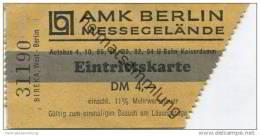 Deutschland - Berlin - AMK Berlin Messegelände - Eintrittskarte - Eintrittskarten