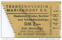 Deutschland - Berlin - Trabrennbahn Mariendorf E.V. - Eintrittskarte - Eintrittskarten