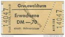 Deutschland - Berlin - Grunewaldturm - Eintrittskarte - Eintrittskarten
