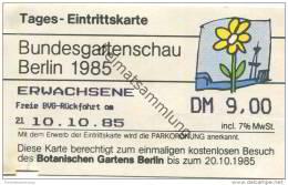 Deutschland - Berlin - Bundesgartenschau 1985 - Tages-Eintrittskarte - Eintrittskarten