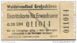 Deutschland - Waldstrandbad Grossschönau - Eintrittskarte Für Erwachsene 0,20DM - Eintrittskarten
