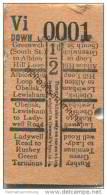 Grossbritannien - London - London County Council Tramways L.C.C. Trams - Ticket - Fahrschein - Bus