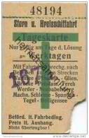 Deutschland - Berlin - Stern Und Kreisschiffahrt - Tageskarte An Werktagen 30er Jahre - Fahrkarte Ticket - Europa