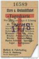 Deutschland - Berlin - Stern Und Kreisschiffahrt - Tageskarte An Sonntagen 30er Jahre - Fahrkarte Ticket - Europa