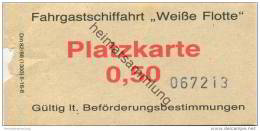 Deutschland - Berlin DDR - Fahrgastschiffahrt Weisse Flotte - Platzkarte 0,50 - Fahrschein - Europa