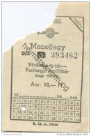 Ungarn - Volan Troszt - Menetjegy Ara 10,- Ft - Vörösmarty Tér ? Ferihegyi RepülÅ'tér - Flughafen-Zubringer - Ticket - Europa