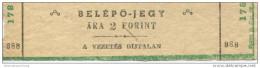 Ungarn - Belepojegy - A Vezetes Dijtalan - Ticket Eintrittskarte - Eintrittskarten