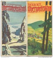 Oberwiesenthal 1939 - 6 Seiten Mit 10 Abbildungen - Titelbild Signiert Hans Wittig Friesen - Wohnungsliste Mit Stadtplan - Saxe