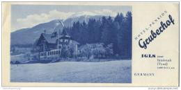Igls Tirol 40er Jahre - Hotel Pension Gruberhof - Faltblatt Mit 9 Abbildungen - Oesterreich
