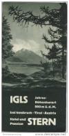 Igls Tirol 30er Jahre - Hotel Und Pension Stern Besitzerin Wwe. Marie Diechtl - Faltblatt Mit 9 Abbildungen - Oesterreich