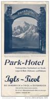 Igls Tirol 40er Jahre - Park-Hotel - Faltblatt Mit 12 Abbildungen - Oesterreich