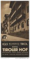 Igls Tirol 40er Jahre - Hotel Tiroler Hof Besitzerin Fanny Haager - Faltblatt Mit 12 Abbildungen - Oesterreich