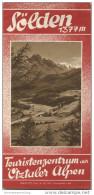 Sölden 1939 - Faltblatt Mit 13 Abbildungen - Unterkunftsverzeichnis - Oesterreich