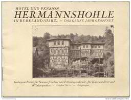 Rübeland - Hotel Pension Hermannshöhle 30er Jahre - Besitzer K. Steckfuss - 18 Seiten Mit 8 Abbildungen Und Einer Auskla - Saxe-Anhalt